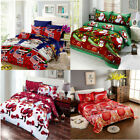 Christmas Santa Bedding Set 3D Printed Duvet Cover Deep pocket king/Queen B2X8 image