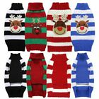 Cute Pets Dog Teddy Knitted Sweater Winter Warm Knitwear Clothes Christmas Gifts