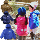Winter Toddler Kids Boys Coat Parka Warm Outwear Ultralight Hooded Down Jacket
