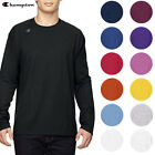 Champion Men's T390 Jersey Crew Neck Long Sleeve Logo T-Shirt UV Protection image
