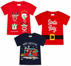 Baby Girls Boys Christmas T-shirts Kids Xmas Top 100% Cotton Ages 3 - 24 Months