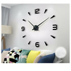 DIY 3D Large Number Mirror Wall Clock Sticker Decor for Home Office Room G0P8H
