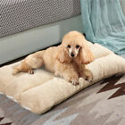 UK Orthopedic Dog Bed Pillow Plush Sherpa Large Pet Lounger for Crate Foam Soft