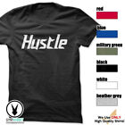 HUSTLE Gym Rabbit T-Shirt Workout Gym Fitness Weightlifting Motivation E199 image