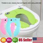 Potty Seat Training Reusable Folding Toddler Kids Baby Toilet Cover Pad Travel image