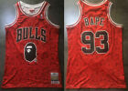 New Men's Chicago Bulls #93 BAPE Basketball jersey embroidery Red Size: S - XXL on eBay