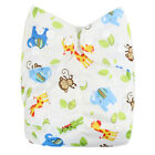 Reusable, Adjustable, Waterproof Soft Baby Cloth Pocket Diapers with Inserts