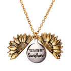 FixedPriceyou are my sunshine open locket sunflower pendant chain necklace jewelry gifts