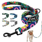 Fashion Printed Pet Dog Lead Leash with Padded Handle Nylon Rope for Walking 4ft