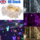 96 Led Butterfly Curtain Window Fairy String Lights Christmas Party Home Decor