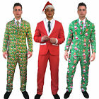 Christmas Suit Carrot sprout Santa Hat Funny Patterned Fancy Dress Costume