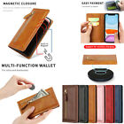 For Iphone 11 X Xr Xs Max 7 8 Leather Zipper Credit Card Slot Holder Case Cover
