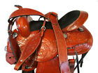 BARREL SADDLE PRO WESTERN 15 16 PLEASURE FLORAL TOOLED LEATHER HORSE PACKAGE