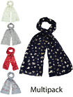 Womens Scarves Christmas Printed Xmas Light Weight Shawl Scarf Accessories New
