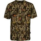 Percussion Mens Forest Barkam Camo T-Shirt, Shooting, Fishing