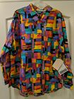 Ladies Plus Size Vintage Rockies Western Shirt New old stock w/ tags Wild Colors