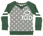 Outerstuff NFL Little Girls New York Jets Logo Polka Dot Long Sleeve Crew $24.95 USD on eBay