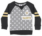 Outerstuff NFL Little Girls New Orleans Saints Logo Polka Dot Long Sleeve Crew $24.95 USD on eBay
