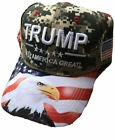 Trump Ball Cap Keep America Great US Flag Front With Eagle Print Hat New