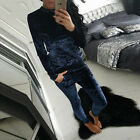 2PCS Women Velvet Tracksuit Lounge Wear Sweatshirt Pants Casual Sport Sweat Suit