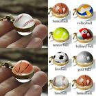 Double Sided Glass Ball Pendant Necklace Sports Art Pattern Series Bronze Chain $2.73 CAD on eBay