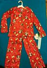 New Buddy the Elf Christmas Pajama Sleepwear Red Design Kids XS 4/5 S 6/6X M 7/8