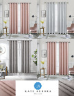 Kate Aurora Metalico Blackout Chic Grommet Top Window Curtains - Assorted Colors