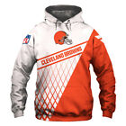 Cleveland Browns Hoodie Hooded Pullover S-5XL Football Team Fans NEW Designs $44.92 CAD on eBay