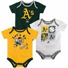 Majestic MLB Infant Oakland Athletics Go Team! Three Pack Creeper Set on Ebay