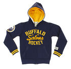 NHL Youth Buffalo Sabres Team Classics Fleece Zip Up Hoodie, Navy $29.99 USD on eBay