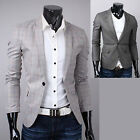 Mens Best Quality Stylish Check Jacket Jumper Blazer Casual Formal Suit Tops M