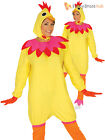 Adults Easter Hen Costume Mens Ladies Chicken Fancy Dress Womens Chick Outfit