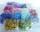 Wholesale pack of 100 Organza Gauze Glitter Butterflies 25mm x 30mm 14 Colours