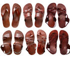 Jerusalem Biblical Jesus Sandals Thongs Flip-flops Leather US 5-16 EU 36-50