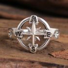 HANDMADE Jewelry 925 Solid Sterling Silver direction compass Ring All Size