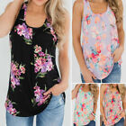 Plus Size Women's Summer Boho Flora Vest Tank Tunic Tops Sleeveless Loose Blouse