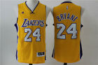 New Los Angeles Lakers #24 Kobe Bryant Swingman Basketball Jersey Yellow
