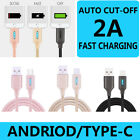 Auto Cut-off Fast Charging Nylon Cable Original Flash for Phone Android Type-C