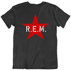 R.E.M. REM Red Star Army T-Shirt Mens V-Neck Long Sleeve Ladies TankTop Gift New