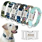Personalized Dog Collar Custom Engraved Pet ID Name Side Release Buckle S M L