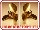 4 BLADE MODEL BOAT PROPELLERS 1 PAIR (LH & RH) VARIOUS SIZES AVAILABLE M4 THREAD