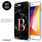 PERSONALISED PHONE CASE COVER INITIALS NAME GEL SILICONE FOR APPLE IPHONE 7 8 11