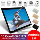 10.1inch 8g+512g Hd Wifi Tablet Android 9.0 Bluetooth4.1 Game Tablet 2560 * 1600