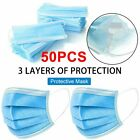 10/50/100PCS Protection 3-Layers Fabric Mouth Cloth Nose Cover Face Protector US