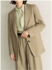 Uniqlo U Lemaire Women Jersey Tailored Jacket Olive Dark Gray 2020 New NWT