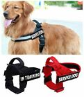 Pet Dog Harness Reflective Service No-Pull Vest Collar with Handle & 2 Patches