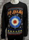 DEF LEPPARD Ugly Christmas Sweater-Style Black Crew Neck Sweatshirt NEW