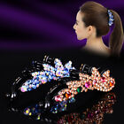 Vintage Women Crystal  Banana Hairpins Hair Clips Bobby Pins Barrette