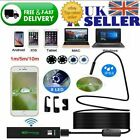 1/5m Waterproof WiFi Endoscope Inspection 8LED Camera for iPhone Android PC iPad