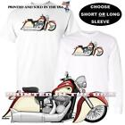 Indian Chief Vintage Motorcycle Red / Ivory Cream DigiRods Art T Shirt